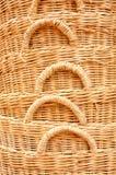 Straw baskets Royalty Free Stock Image