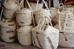 Straw Baskets Foto de Stock Royalty Free