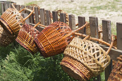 Straw Baskets Fotos de Stock