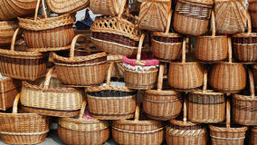 Straw baskets Royalty Free Stock Images