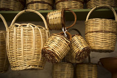 Straw baskets Royalty Free Stock Photos