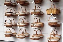Straw baskets Royalty Free Stock Photos