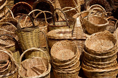 Straw Baskets Stock Photo