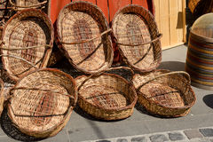 Straw Baskets Royalty Free Stock Image