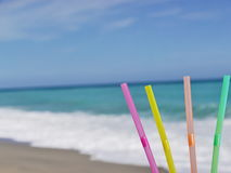 Straw beach drink Royalty Free Stock Photo
