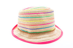 Straw beach hat Royalty Free Stock Images