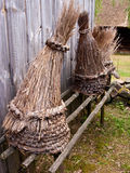 Straw beehives Stock Images