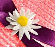 Straw bonnet decoration Stock Photo