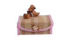 Straw box  casket Royalty Free Stock Photo