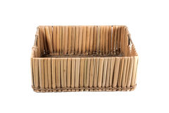 Straw box. On isolated background Royalty Free Stock Photography