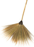 Straw broom Stock Photography