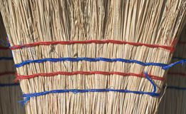 Straw Broom Stock Photo