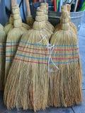 Straw Brooms Imágenes de archivo libres de regalías