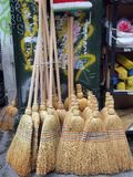 Straw Brooms, Athens Royalty Free Stock Photos