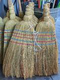 Straw Brooms Royalty Free Stock Images