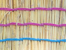 Straw broomstick, macro shot Stock Photos