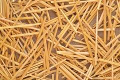 Straw on burlap Royalty Free Stock Photography