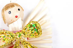 Straw christmas angel Stock Photography