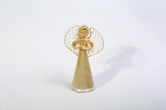 Straw Christmas angel Royalty Free Stock Photo
