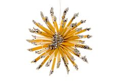 Straw Christmas Decoration. A straw christmas ornament - seasonal decoration - close up Stock Photo