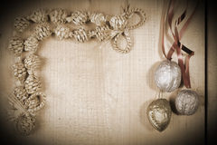 Straw Christmas decoration Stock Images