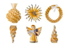 Straw Christmas Decorations Royalty Free Stock Image