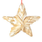 Straw Christmas star. Stock Photography