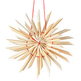 Straw Christmas star snowflake. Stock Images