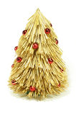 Straw christmas tree Royalty Free Stock Image