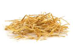 Straw. Close up of straw isolated on white background royalty free stock images
