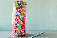 Straw collection stock images