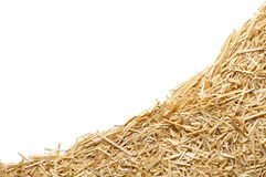 Straw with copy space Royalty Free Stock Images