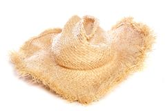 Straw cowboy hat Stock Images