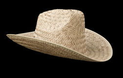 Straw cowboy hat Stock Photos