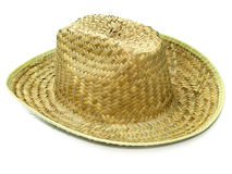 Straw cowboy hat Royalty Free Stock Image