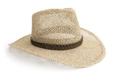 Straw cowboy hat isolated on white Stock Image