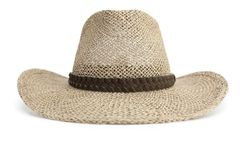 Straw Cowboy hat isolated on white Stock Images