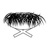 Straw cradle manger icon Royalty Free Stock Images