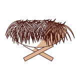 Straw cradle manger icon Stock Image