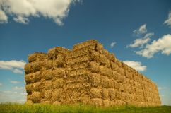 Straw cube Royalty Free Stock Photo