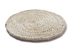Straw cushion. Isolated on white background stock image