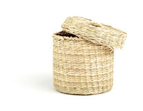 straw cylinder box with cap Stock Image
