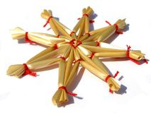 Straw decoration Royalty Free Stock Images