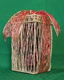 Straw Decorative box Royalty Free Stock Photo