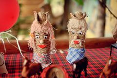 Straw dolls Royalty Free Stock Photo