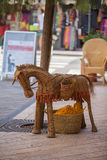 Straw donkey. Stock Photos