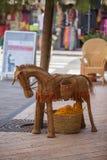 Straw donkey. Stock Photos