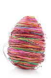 Straw easter egg Royalty Free Stock Image