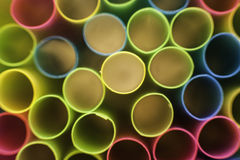 Straw Ends Macro. Colourful multi-circular image of straw ends macro Stock Images