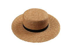 Straw Farm Hat Isolated Fotografia Stock